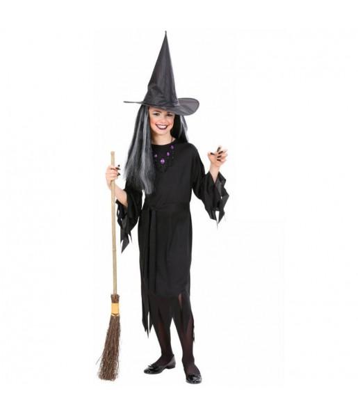 Vestito Strega nera bambine per una festa ad Halloween