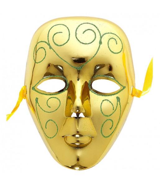 Maschera Venezia Oro per poter completare il tuo costume Halloween e Carnevale