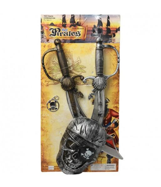 Il più divertente Kit accessori costume per bambini di Pirate Swords per feste in maschera