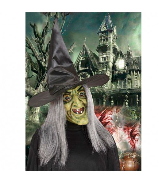Maschera strega in schiuma per poter completare il tuo costume Halloween e Carnevale