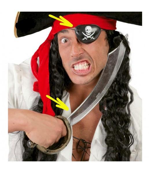 Il più divertente Spada con toppa pirata per feste in maschera