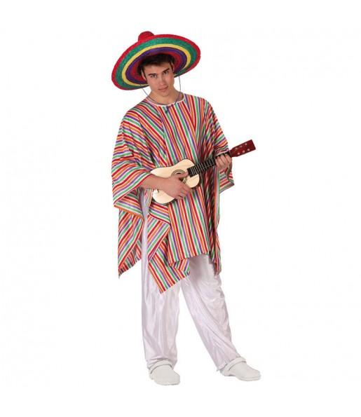Travestimento Messicano Multicolore adulti per una serata in maschera