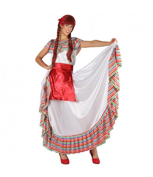 Travestimento Messicana Multicolore donna per divertirsi e fare festa