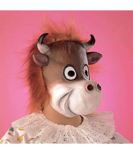 Maschera mucca marrone per poter completare il tuo costume Halloween e Carnevale