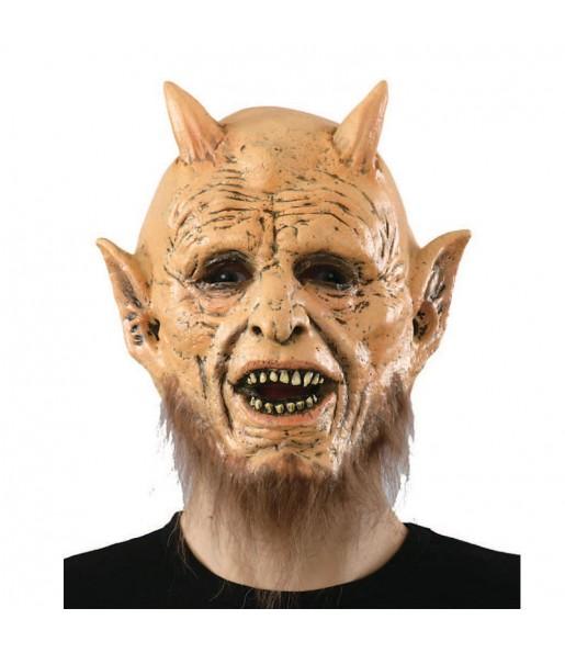 Maschera demone con barba per poter completare il tuo costume Halloween e Carnevale