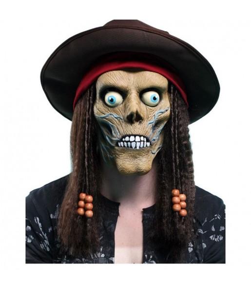 Maschera teschio pirata per poter completare il tuo costume Halloween e Carnevale