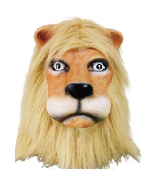Maschera leone con pelliccia per poter completare il tuo costume Halloween e Carnevale