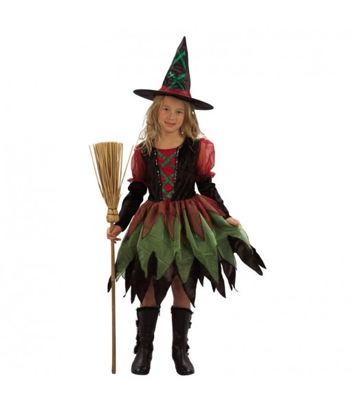 Vestito Streghetta colorata bambine per una festa ad Halloween