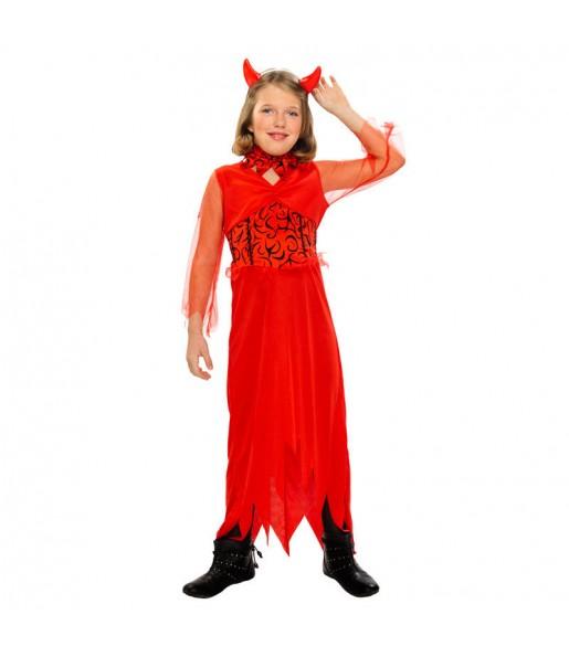 Vestito Diavolessa maliziosa bambine per una festa ad Halloween