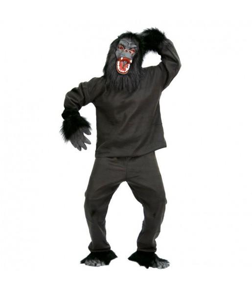 Travestimento Gorilla Nero adulti per una serata in maschera