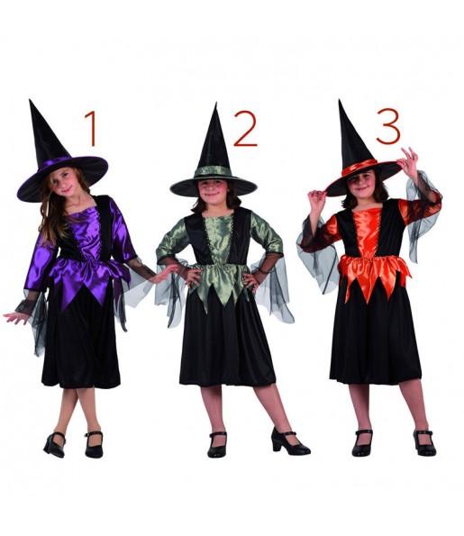 Vestito Strega magica bambine per una festa ad Halloween