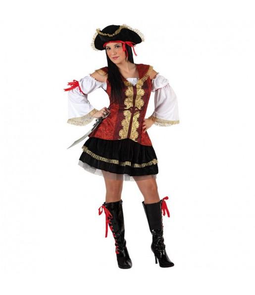 Travestimento Pirata di lusso donna per divertirsi e fare festa