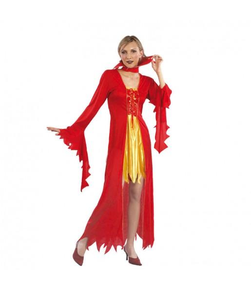 Costume Diavolessa del fuoco donna per una serata ad Halloween