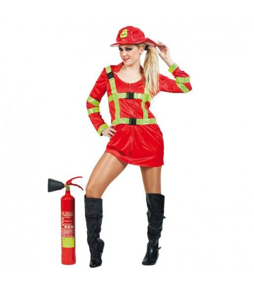 Travestimento Pompiere donna per divertirsi e fare festa