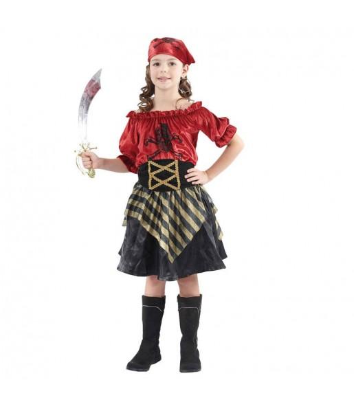 Travestimento Pirata Rossa bambina che più li piace