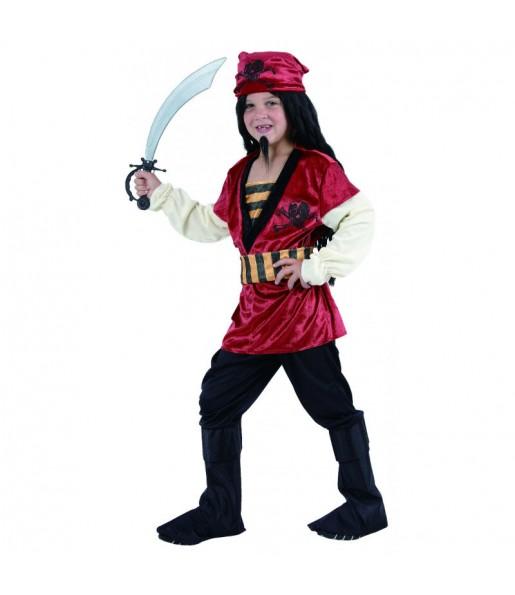 Travestimento Pirata Rosso bambino che più li piace