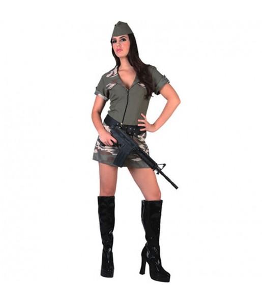Travestimento Militare donna per divertirsi e fare festa