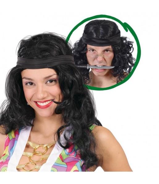 La più divertente Parrucca John Rambo per feste in maschera