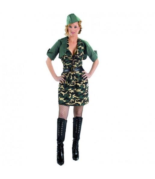 Travestimento Militare camuffamento donna per divertirsi e fare festa