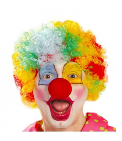 La più divertente Parrucca Ricci Multicolor per feste in maschera