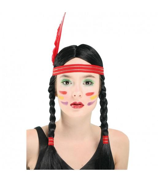 La più divertente Parrucca indiana Pocahontas per feste in maschera