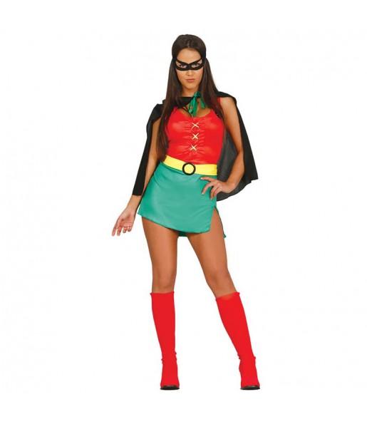 Travestimento Robin di Batman donna per divertirsi e fare festa
