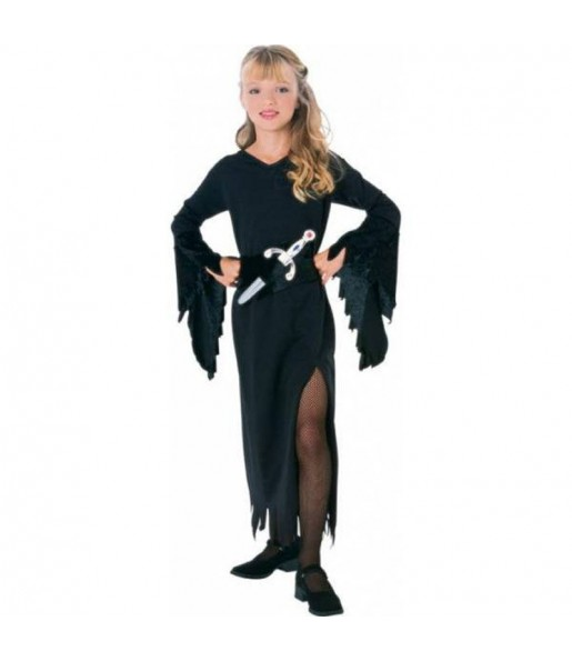 Vestito Dama delle tenebre bambine per una festa ad Halloween