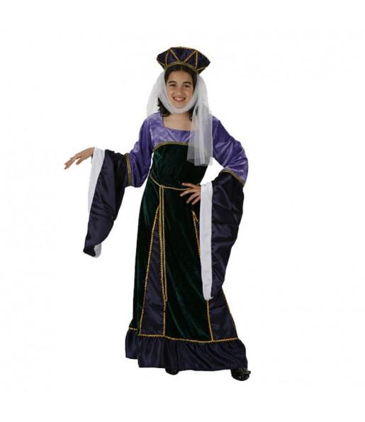Travestimento Donna medievale viola bambina che più li piace