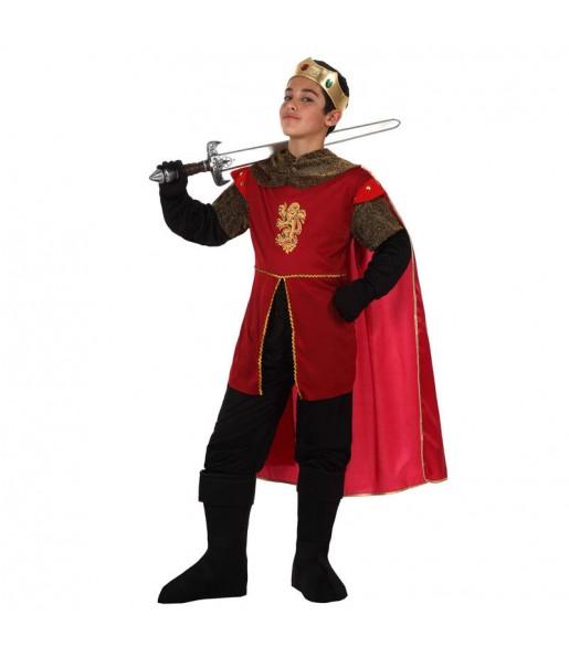 Travestimento Cavaliere medievale rosso bambino che più li piace