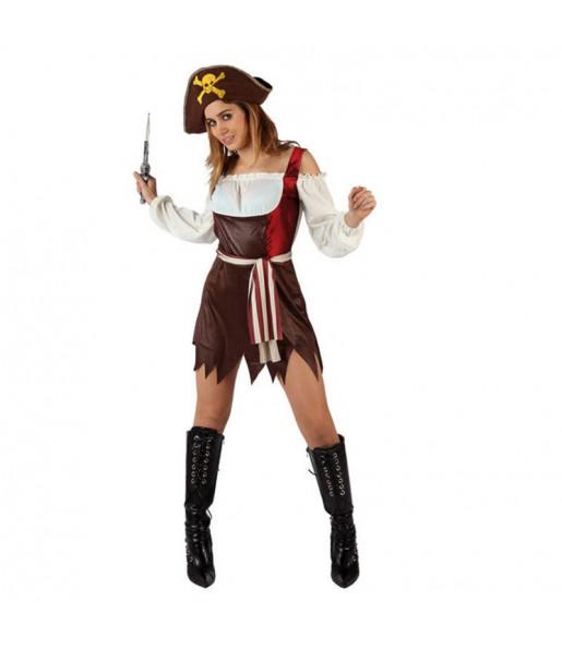 Travestimento Pirata bella donna per divertirsi e fare festa
