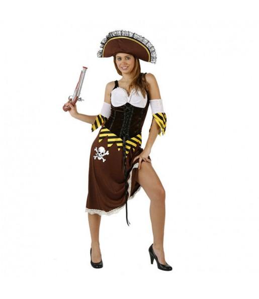 Travestimento Pirata sexy teschio donna per divertirsi e fare festa