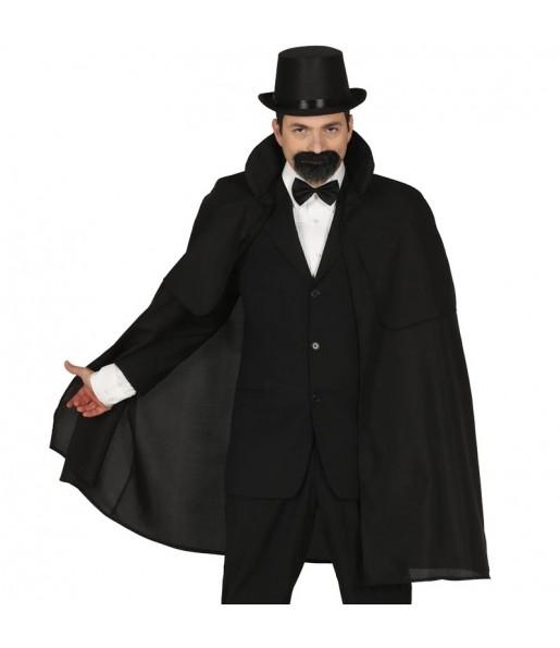 Travestimento Mantello da mago nero adulti per una serata ad Halloween