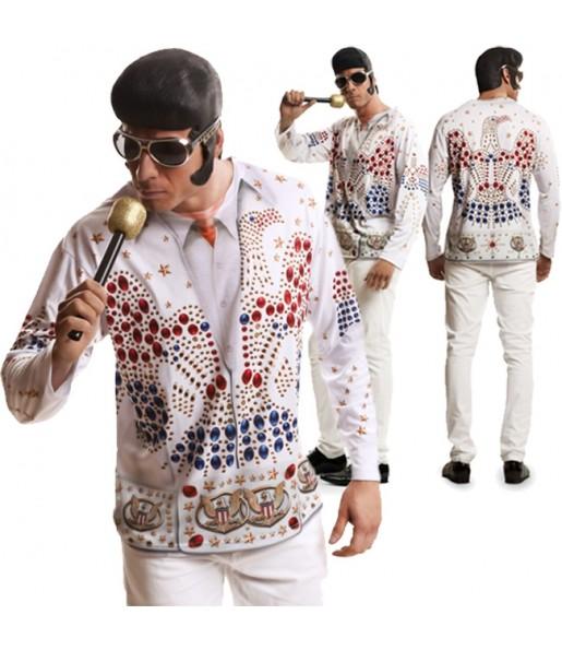Travestimento T-shirt Elvis Presley adulti per una serata in maschera