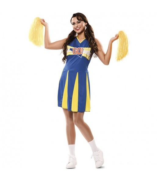 Travestimento Cheerleader sportiva donna per divertirsi e fare festa