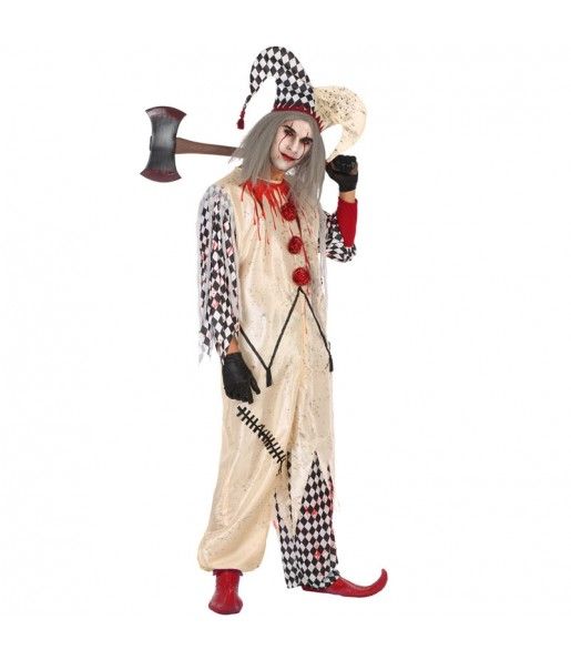 Travestimento Arlecchino sanguinante adulti per una serata ad Halloween