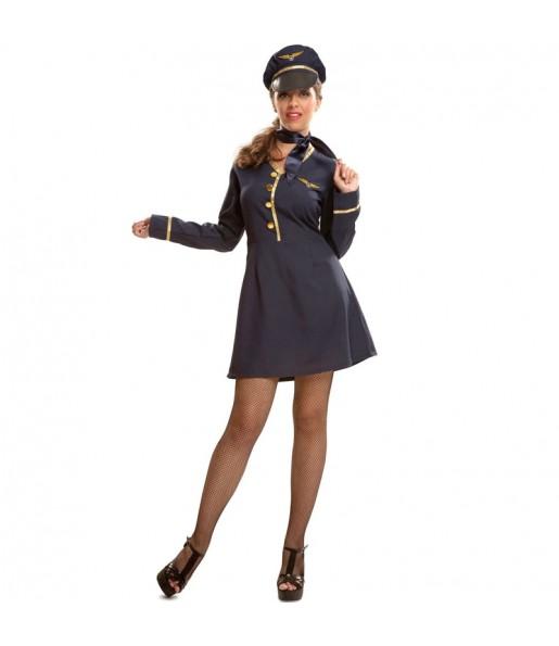 Travestimento Assistente di volo donna per divertirsi e fare festa