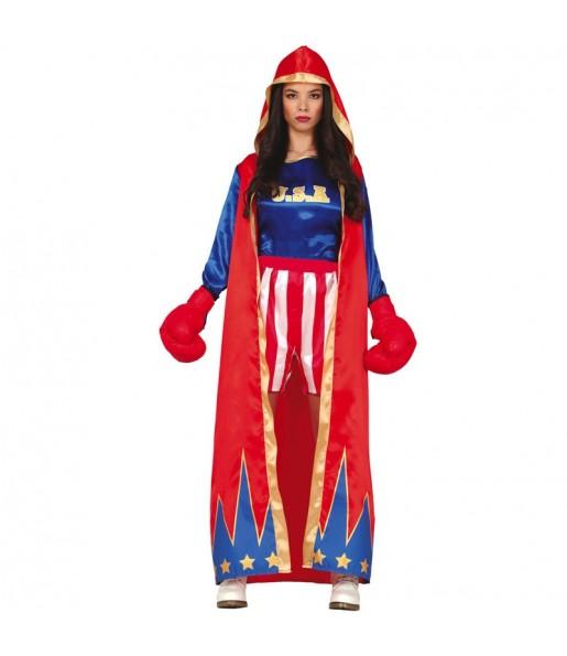 Costume da Pugile americana per donna