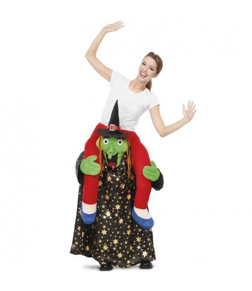 Travestimento adulto Strega Halloween a cavallucio per una serata in maschera