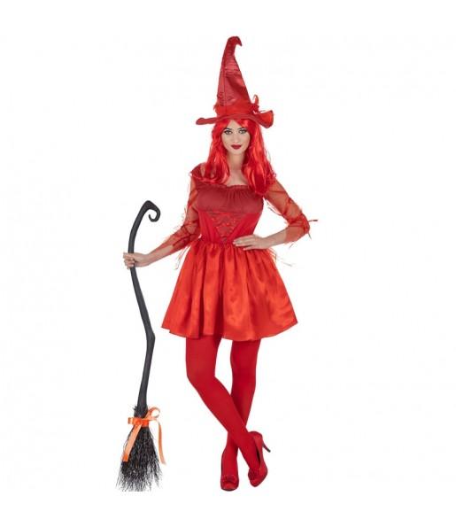 Costume Strega Rossa donna per una serata ad Halloween
