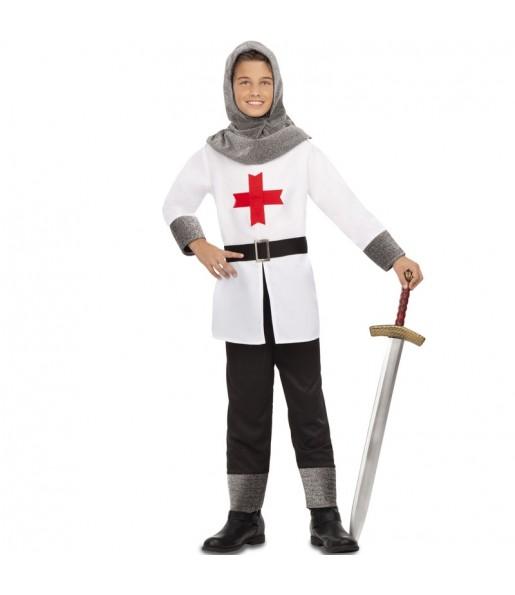 Travestimento Crociato medievale bianco bambino che più li piace