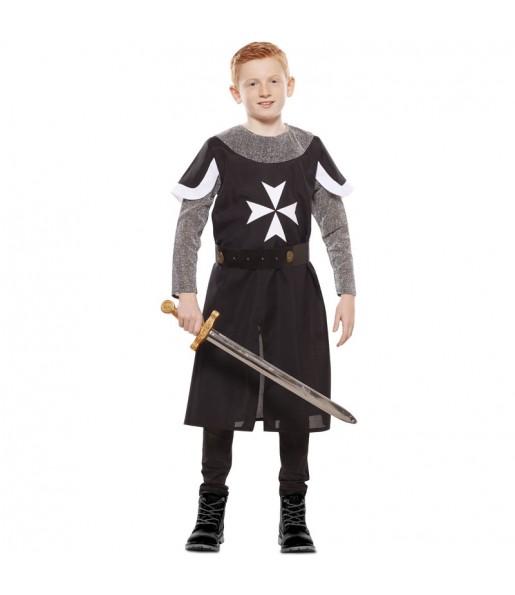Travestimento Crociato medievale nero bambino che più li piace