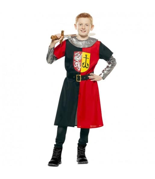 Travestimento Crociato medievale rosso bambino che più li piace