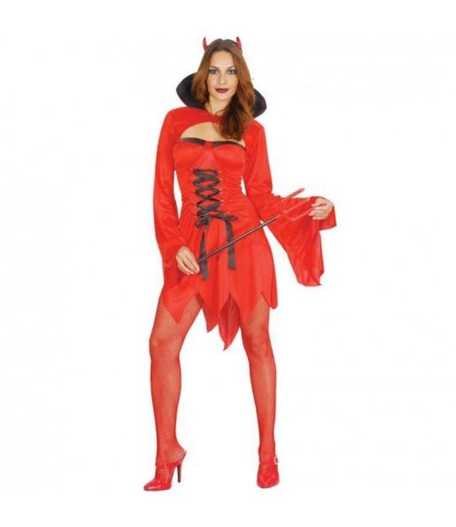 Costume Diavolessa sexy donna per una serata ad Halloween