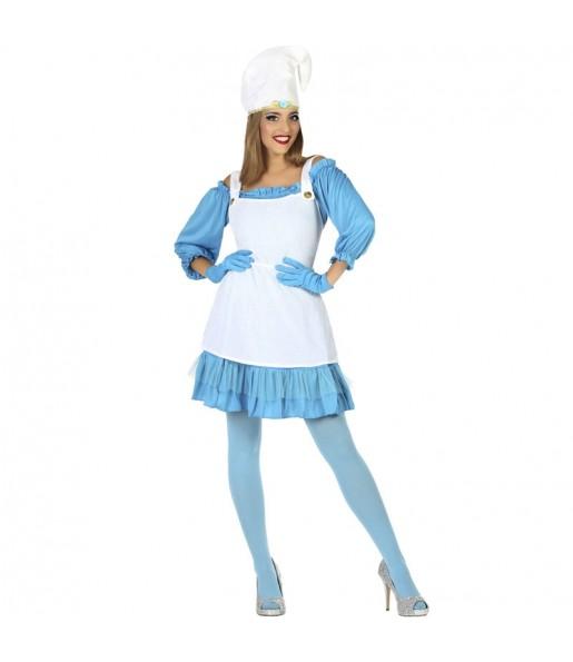 Costume da Gnomo Blu per donna