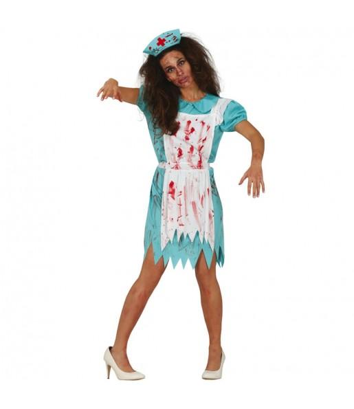 Costume da Infermiera zombie a piedi per donna