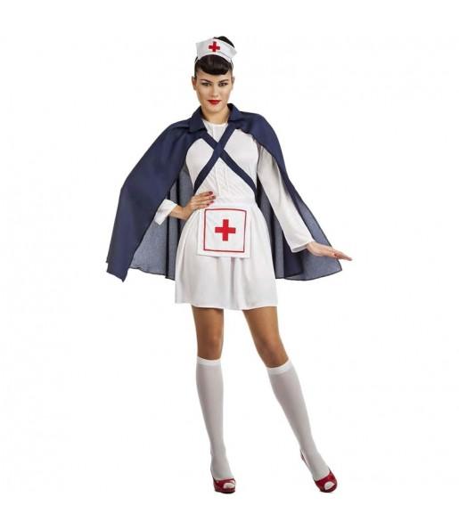 Costume da Infermiera con mantello per donna