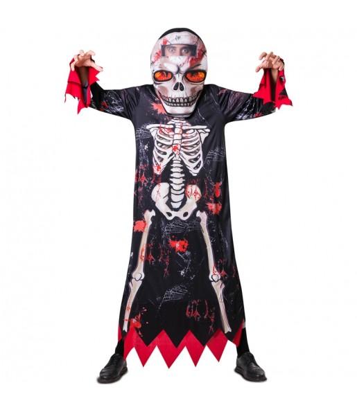Travestimento Scheletro grossa testa adulti per una serata ad Halloween