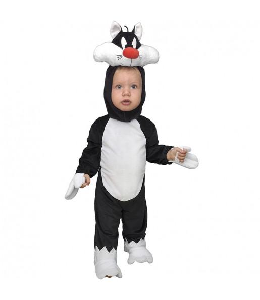 Costume da Silvestro il gatto per neonato