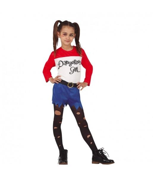 Costume da Harley Quinn fumetto per bambina