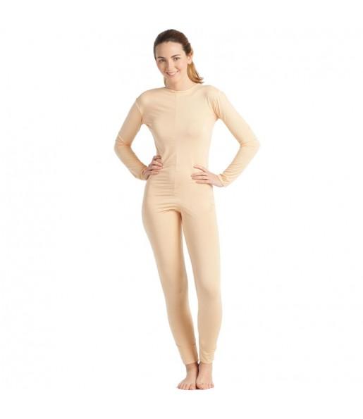 Costume da Body beige spandex per donna